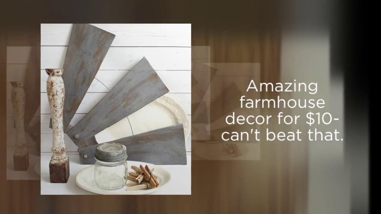 Diy farmhouse style windmill wall decor from ceiling fan for Room decor ulhasnagar
