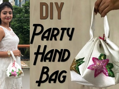 DIY Faux Leather Party Potli Bag   Learn to Make Party HandBag from Faux Leather by Live Creative