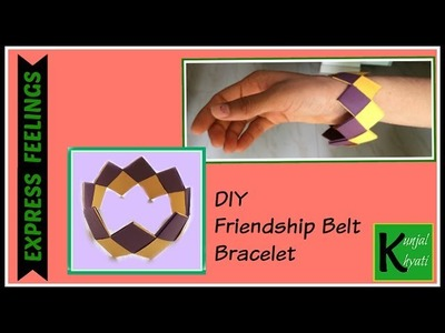 DIY friendship belt-How to make friendship bracelet band at home- DIY-Paper bracelet in 5 minute