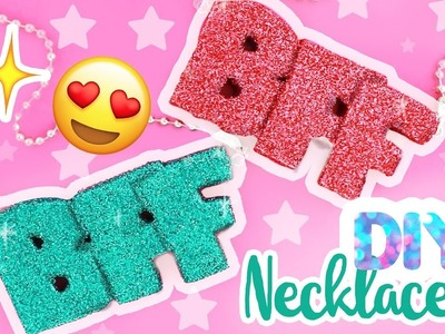 DIY GLITTER BFF NECKLACES! | aCupofCakeTV