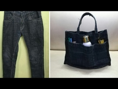 DIY Handbag.Purse Organizer From Old Jeans | Anupama Jha