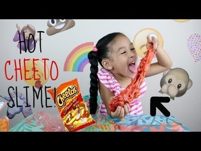 DIY How To Make HOT CHEETO SLIME!!!! Super CRUNCHY Cheetos Slime!!!!