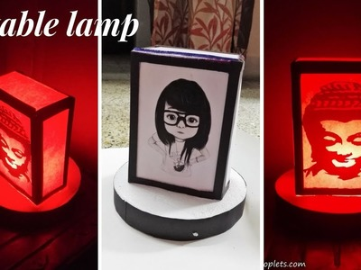 DIY: How to make table lamp  | Table lamp from waste material