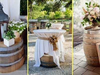 ✴DIY Ideas How to Re purpose Wine Barrels | Rustic Farmhouse style Home decor | Flamingo mango |✴