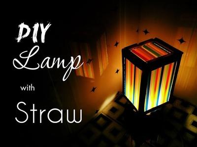 DIY Lamp from drinking straw - HMC Art