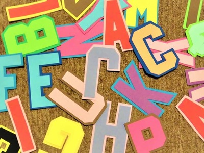 DIY Letters A to Z using Craft Foam