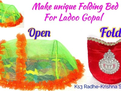 DIY- Make Folding Bed with Mosquito net for Ladoo Gopal - Specily for Small Home and Outdoor | 204#