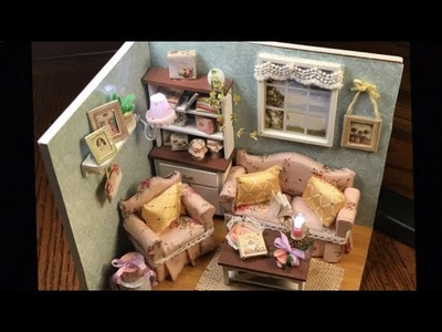 DIY Miniature Cute Room Dollhouse: Happy Living Room