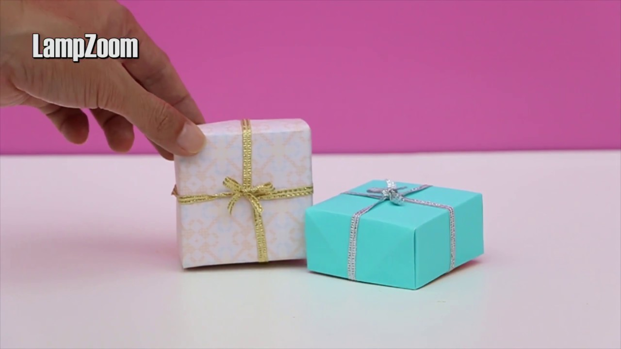DIY Origami Gift Box with Cover - Very Easy