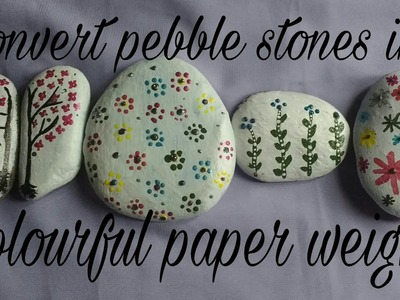 DIY Paper weight from pebble stone | Pebble Art | Easy & Simple | 4 designs