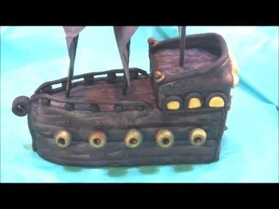 DIY Pirate Ship Cake Topper - Pirates of the Caribbean Black Pearl