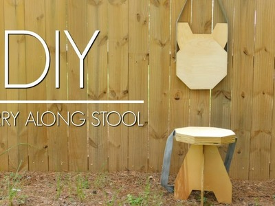 DIY - Plywood Folding Stool   Easy Woodworking Project   Izzy Swan