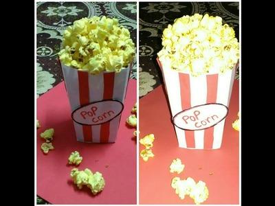 DIY popcorn box || How to make diy popcorn box in easy way
