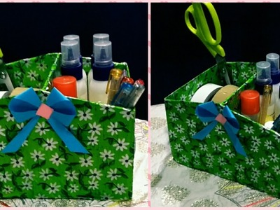 DIY RECYCLE SHOE BOX INTO TOOL STORAGEBOX.HOW TO MAKE EASY STORAGE BOX OUT OF SHOEBOX.ART WITH ALIYA