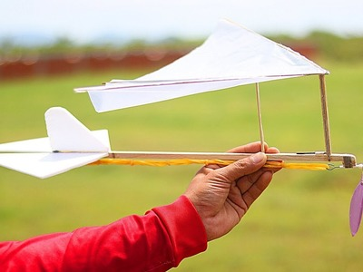 DIY Rubber Band KITE Plane - How to Make a Rubber Band KITE Plane