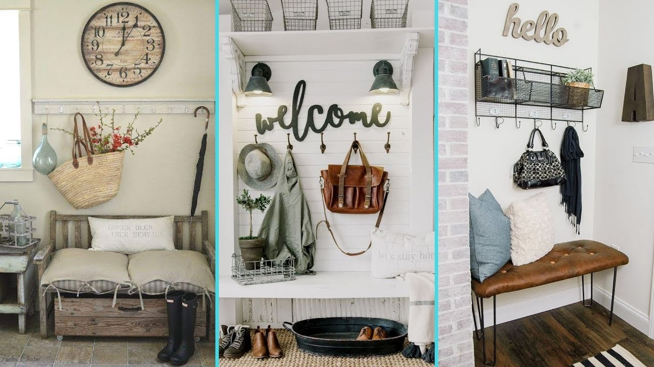 DIY Rustic Shabby Chic Style Mudroom Decor Ideas , Home