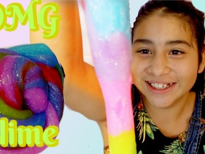 DIY SLIME! DIY BEST GLITTER Rainbow Slime Recipe!