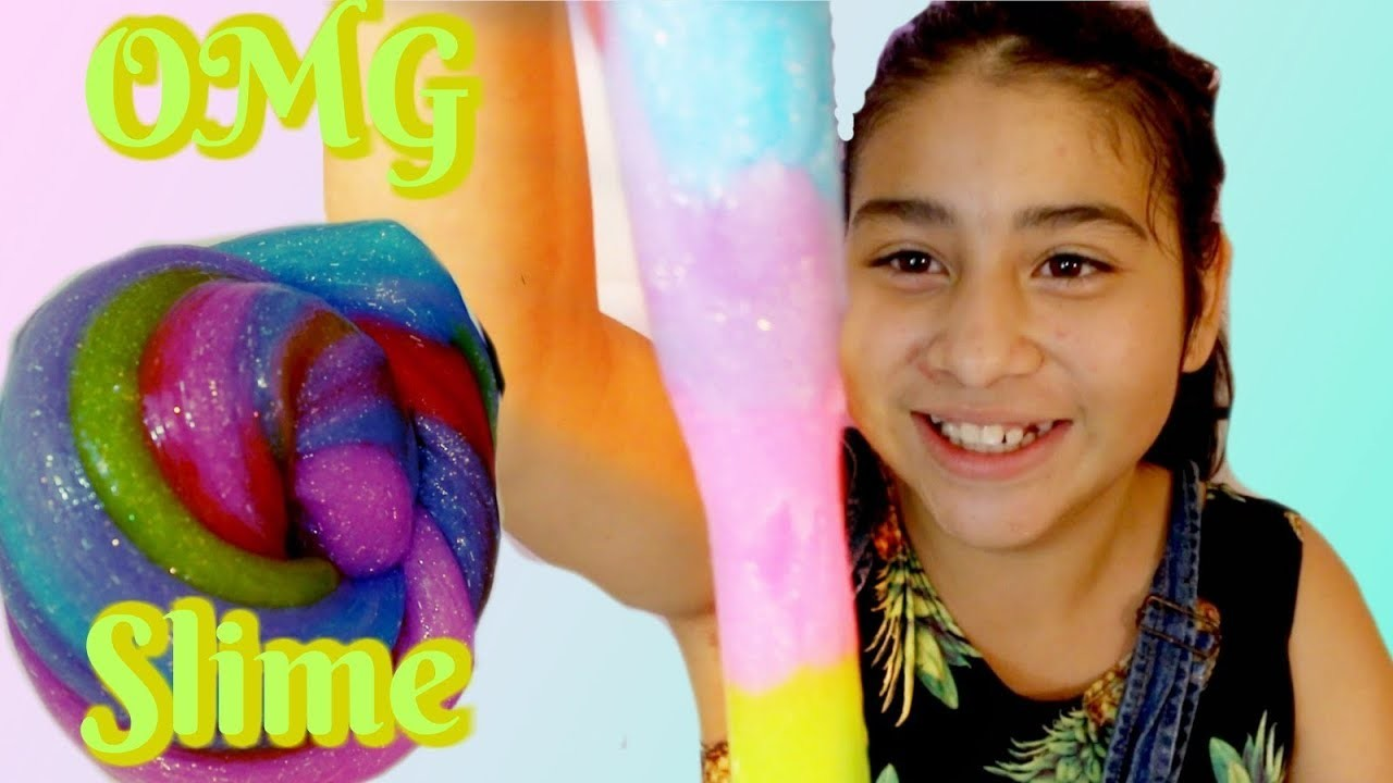 DIY SLIME! DIY BEST GLITTER Rainbow Slime Recipe!
