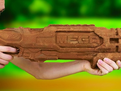 DIY SOLID CHOCOLATE NERF GUN!!
