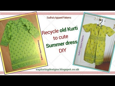 DIY Summer Maxi dress - How to Reuse. Recycle Old Clothes | Sudha's Apparel Patterns