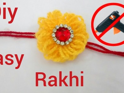 DIY super easy Rakhi making  without hot glue gun for kids school competition (HD video)