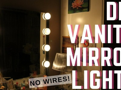 DIY VANITY MIRROR LIGHTS FOR P400! NO WIRES | Philippines
