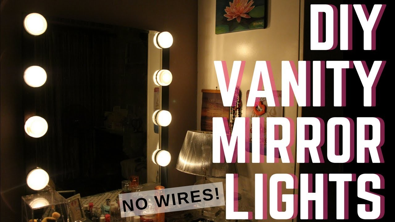 diy vanity mirror lights for p400 no wires philippines my crafts and diy projects. Black Bedroom Furniture Sets. Home Design Ideas