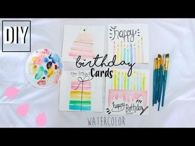 DIY Watercolor Birthday Cards   Grace Belle