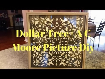 Dollar Tree | A C Moore Picture DIY