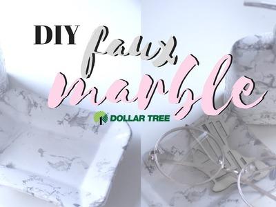 DOLLAR TREE DIY   FAUX MARBLE BATHROOM DECOR