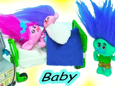 Dreamworks Trolls Poppy + Branch Newborn Baby - DIY Do It Yourself Custom Toy Video