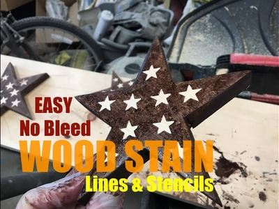 Easy DIY No Bleed Wood Stain lines and stencils