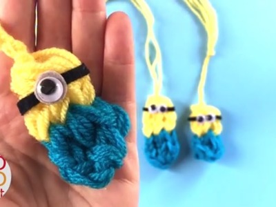 Easy Finger Knitted Minions DIY - Despicable Me DIY