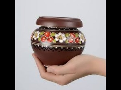 Easy pot painting  DIY  ===How  to make at home  decorative Idea