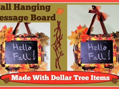 ????Fall Decoration. Hanging Message Board Easy DIY ????