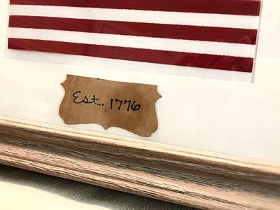 Framed American Flag || DIY Patriotic Decor || Dollar Tree DIY || Americana Decor || Home Decor