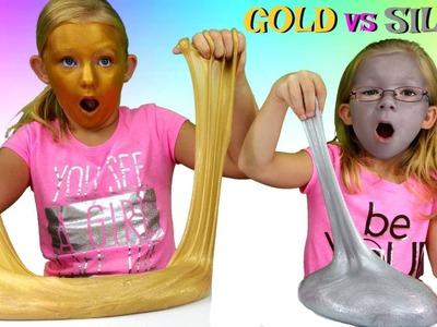 GOLD Slime vs SILVER Slime Challenge * DIY Metallic Slime - Magic Box Toys Collector