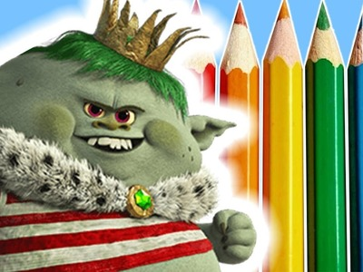 How To Draw Prince Gristle From Trolls Full Movie 2016 | DIY Drawing Kids Craft Ideas ???? Crafty Kids