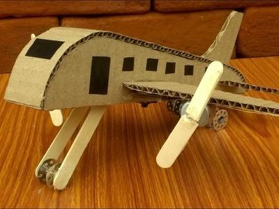 How to make A Aeroplane using DC motor & Cardboard-DIY Plane