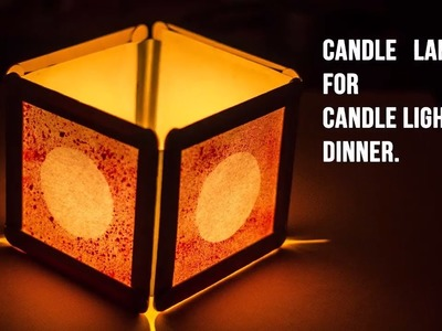How to make a Candle Lamp for Candle light dinner |DIY beautiful candle lamp|
