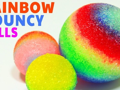 How To Make Rainbow Bouncy Balls | DIY Balls | Colorful and Bouncy - Hooplakidz How To