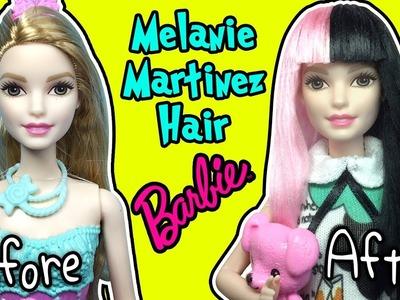 Melanie Martinez Hairstyle For Barbie Doll - DIY Barbie Hairstyles - Making Kids Toys
