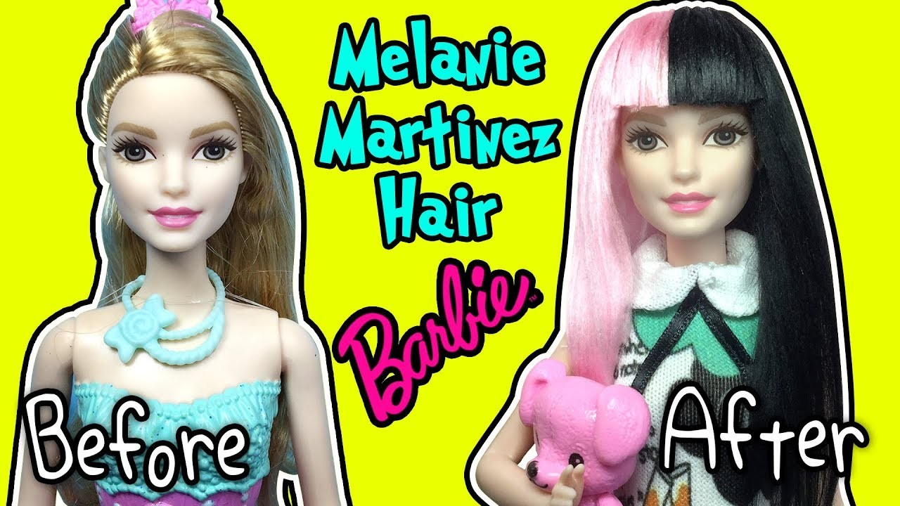 Melanie Martinez Hairstyle For Barbie Doll - DIY Barbie Hairstyles ...