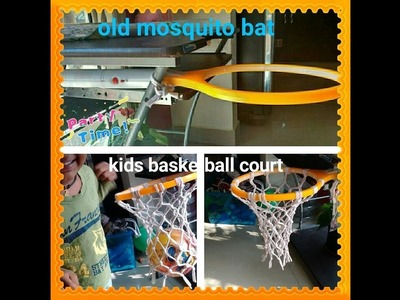 Mosquito bat basketball court????diy @ 1st time on youtube@perfect for indoors & outdoors@