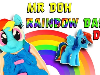 My Little Pony Mr Doh Rainbow Dash DIY Crafts For Kids! Learn Colors Play-Doh How To Video! Slime!