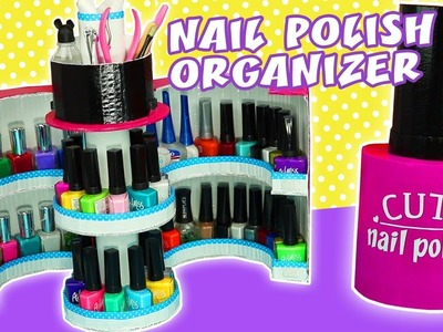 NAIL POLISH ORGANIZER OF CARDBOARD DIY | aPasos Crafts DIY