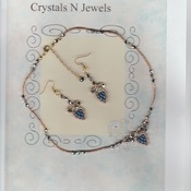 night on the town necklace and earring set