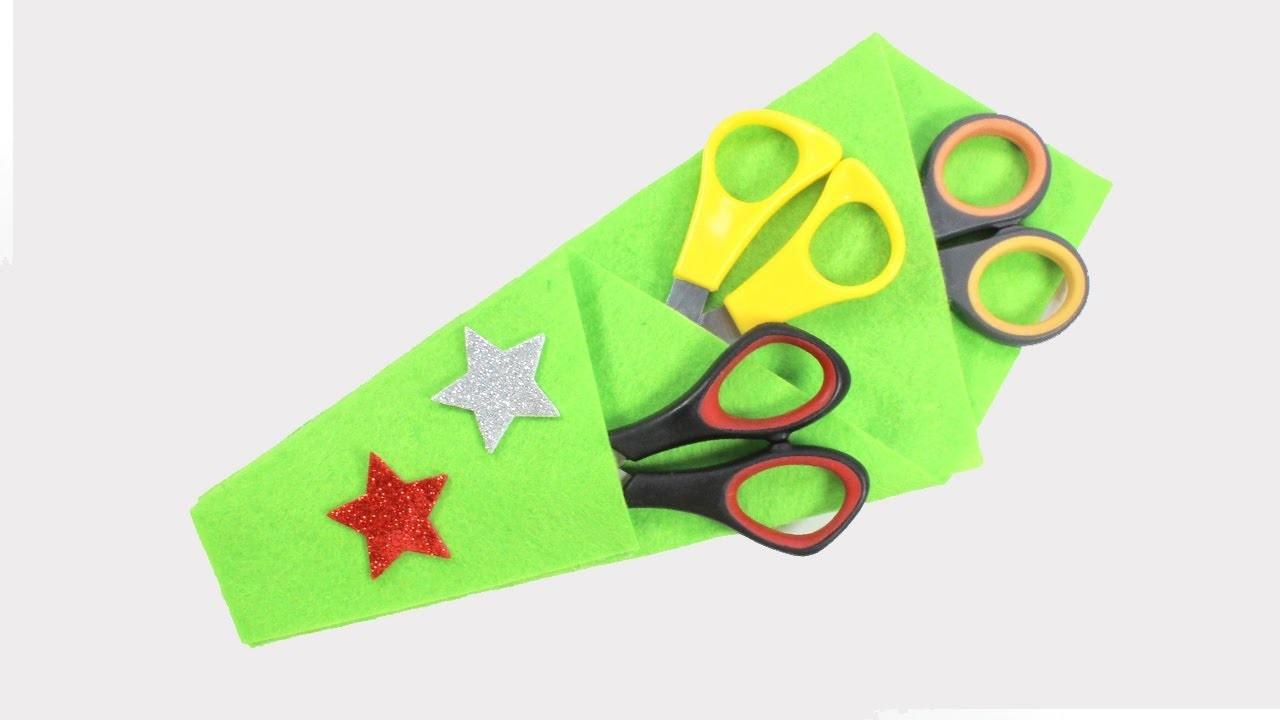 Scissors Pouch   Easy Scissors Case   No-Sew DIY