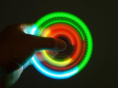 Super LED Hand Spinner Fidget Toy DIY