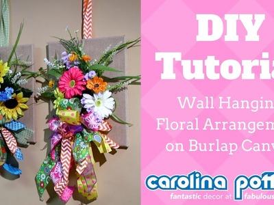 Unique DIY Wall Hanging Floral Arrangement - Carolina Pottery